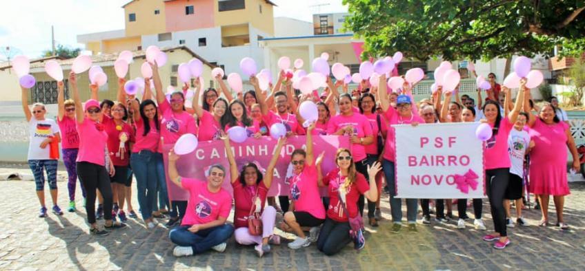 Equipes da Estratégia de Saúde da Família realizam evento voltado à prevenção do câncer de mama