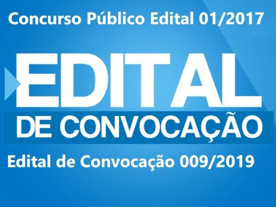Publicado Edital de Convocação 009/2019 do Concurso Público